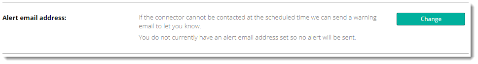 Alert email address